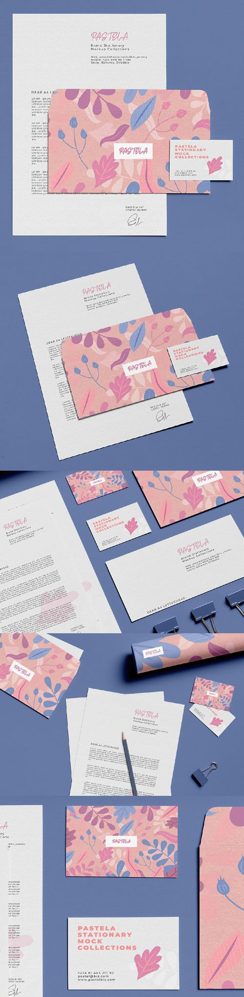 Stationery PSD Mockups Collection