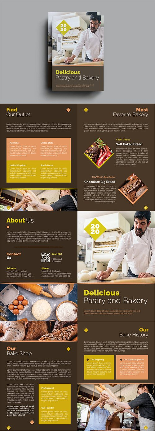 Delicious Pastry and Bakery Brochure