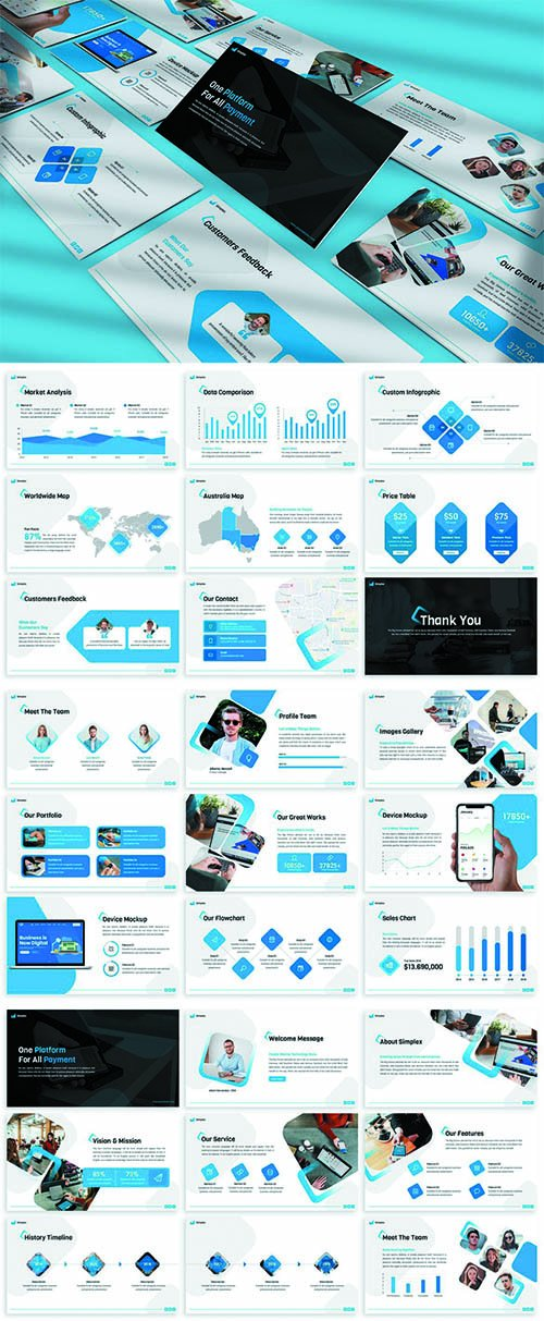 Simplex - Finance Powerpoint Template