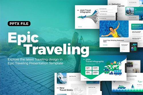 Epic Traveling Powerpoint Presentation Template