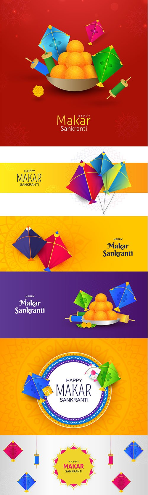 Happy makar sankranti greeting background