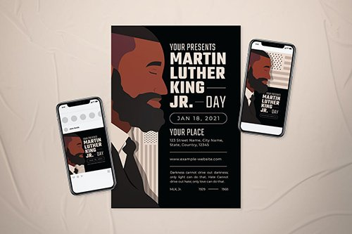 Martin Luther King Jr Day Flyer Set
