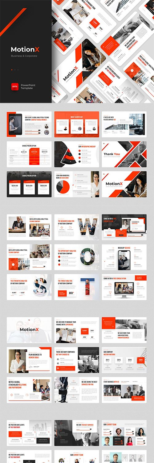 MotionX - Business Powerpoint, Keynote and Google Slides Template