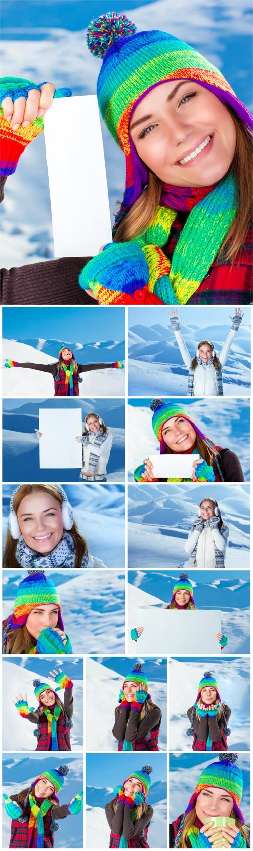 Winter vacation in the mountains stock photo №4