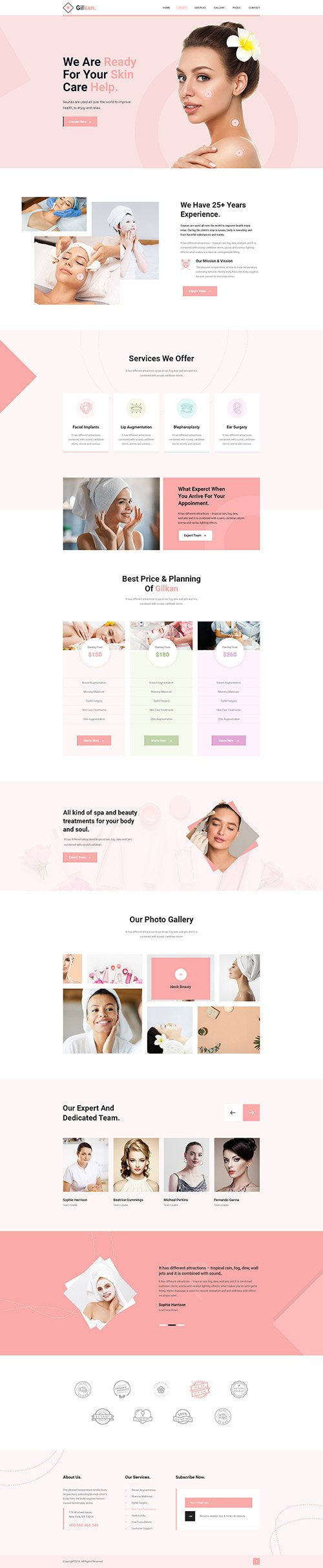 Gilkan - Dermatology and Skin Care Template