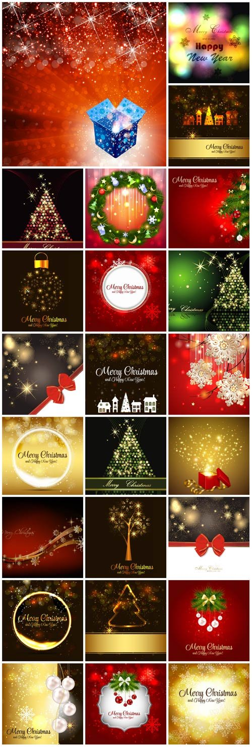 New Year and Christmas illustrations in vector №20