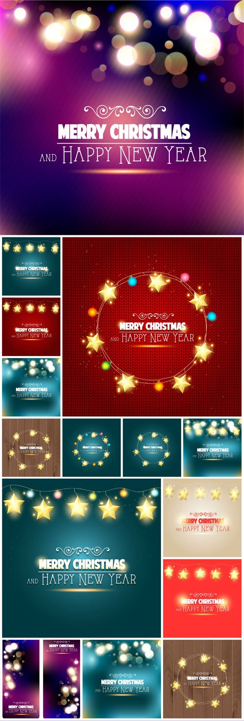New Year and Christmas illustrations in vector №35