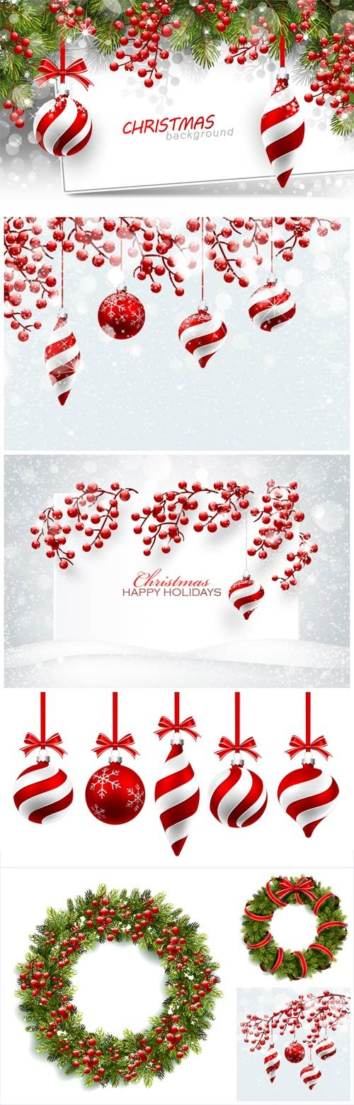 New Year and Christmas illustrations in vector №40