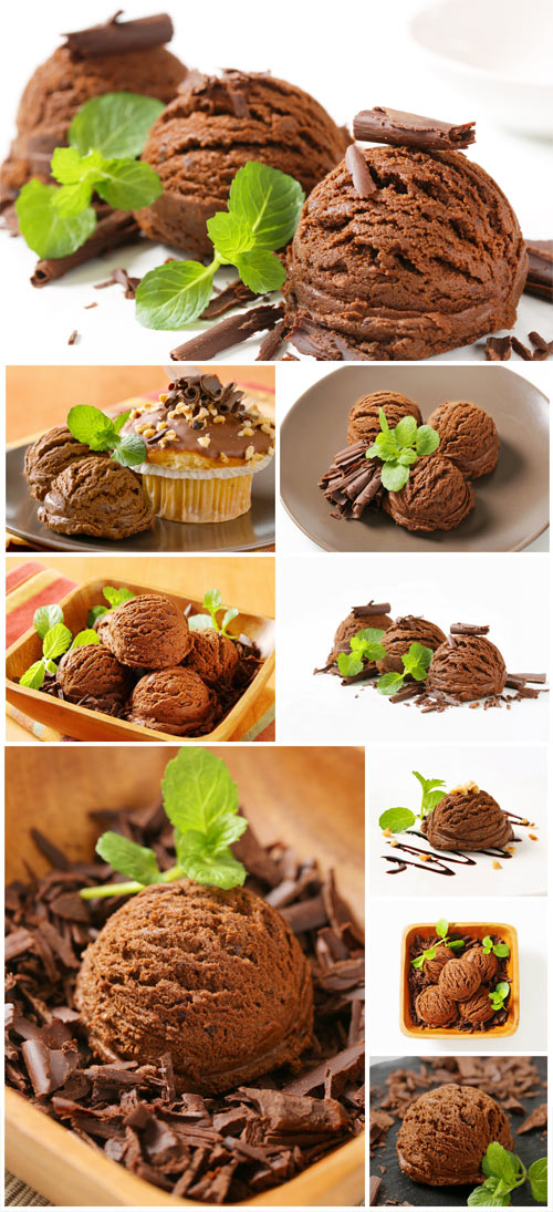 Ice cream, mint, cinnamon, stock photo