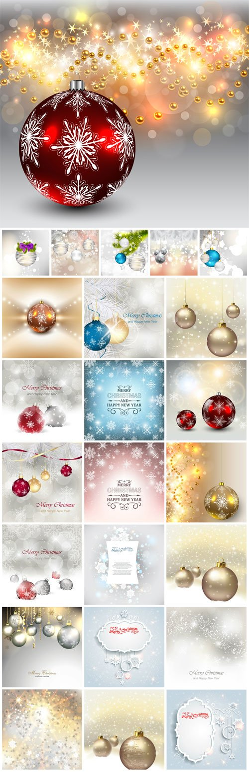 New Year and Christmas illustrations in vector №43