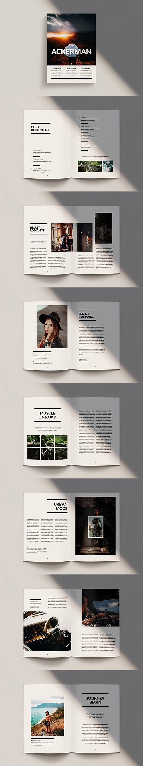 Ackerman - Magazine Template Indesign