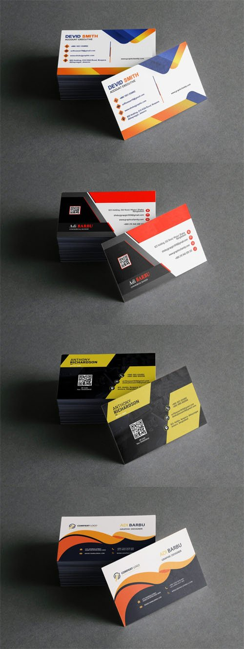 Business Card Photoshop PSD Mockup Template