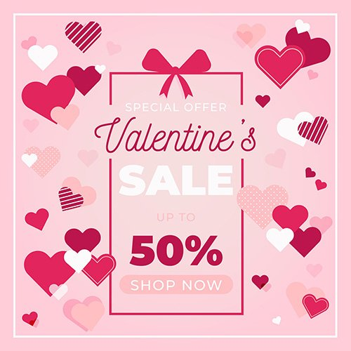 Flat valentines day special offer sale
