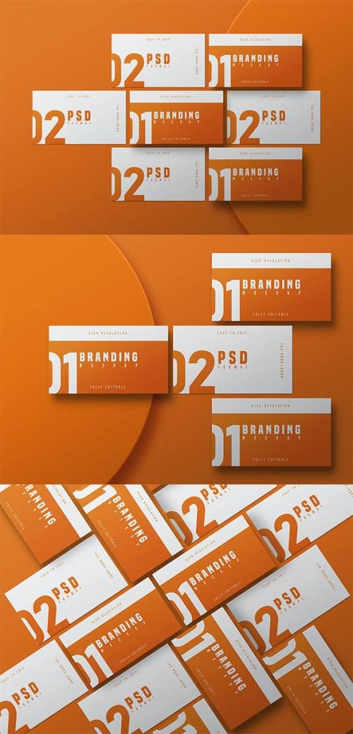Business Card Mockup - Vol 03 PSD