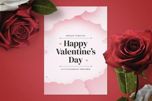 Valentine's Day Flyer Mockup Template