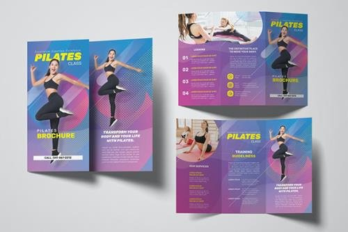 Pilates Trifold Brochure