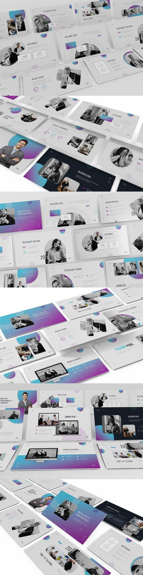 Inhealth Psychology Powerpoint, Keynote and Google Slides Template