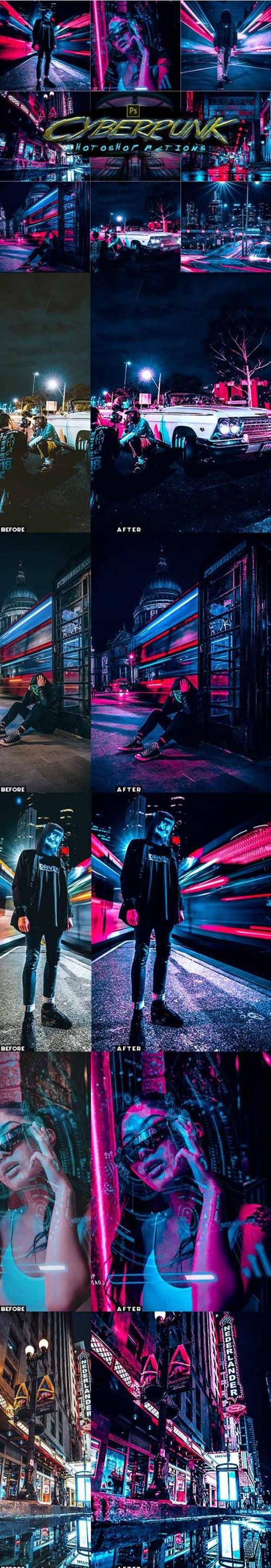 Cyberpunk Photoshop Actions 30123754