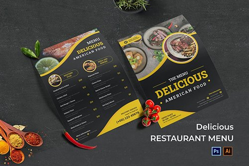 Delicious Food Menu PSD