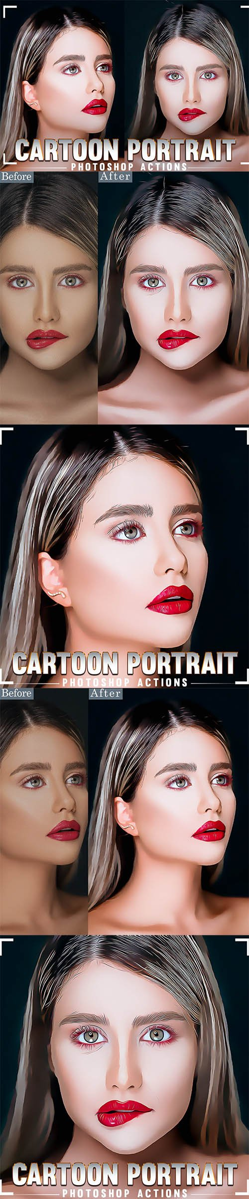 Cartoon Portrait Photoshop Action