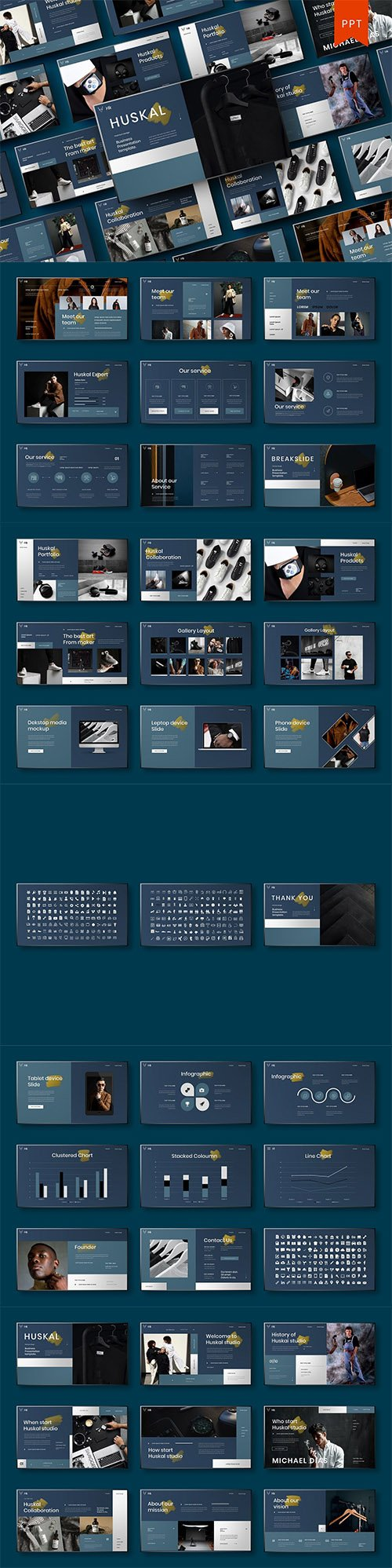 Huskal – Business PowerPoint Template
