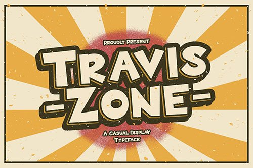 Travis Zone - Playful Display Font
