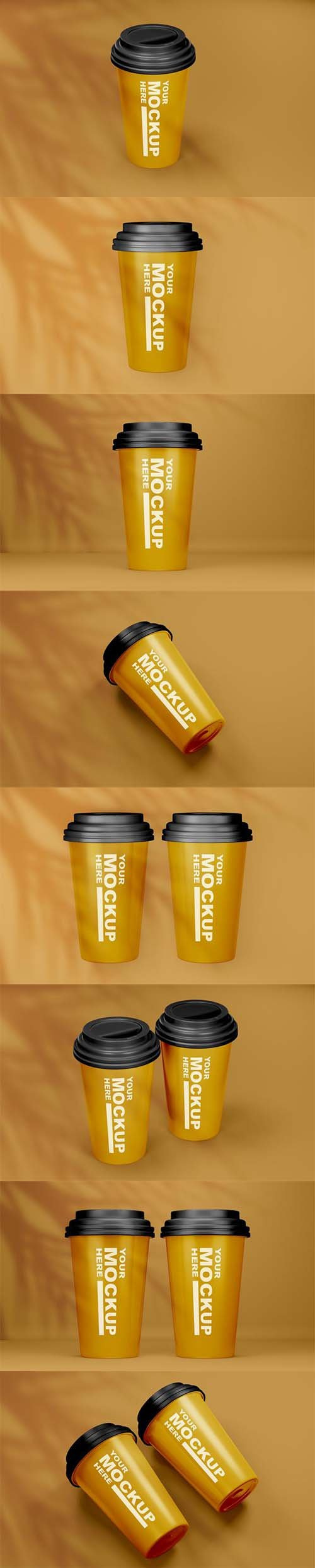 Beautiful realistic coffee cup mockup
