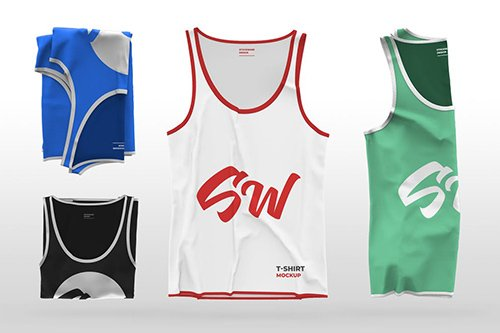 Folded Tank Top Mockup Collection