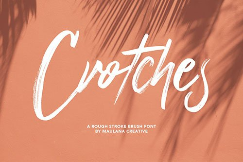 Crotches Rough Stroke Brush Font
