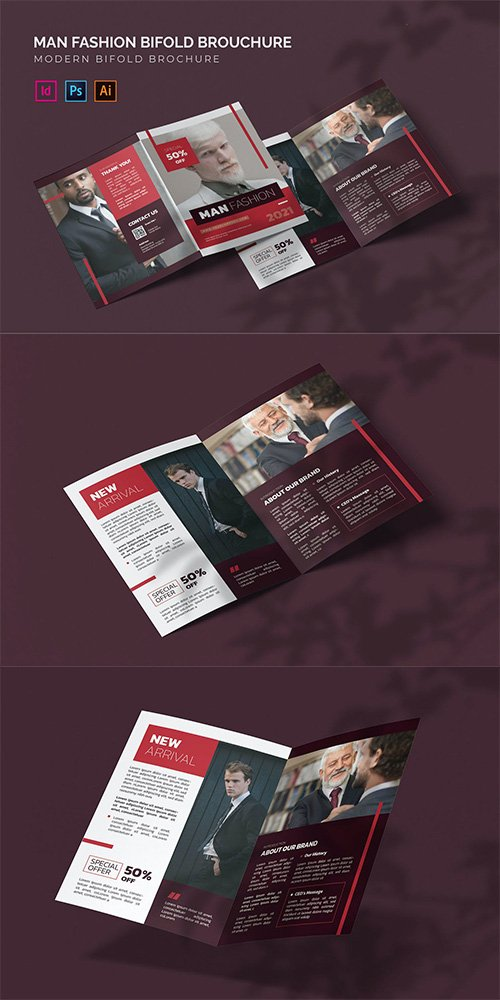 Man Fashion - Bifold Brochure