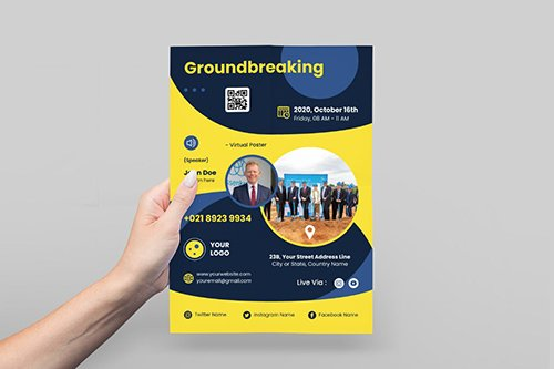 Groundbreaking Event Poster Flyer