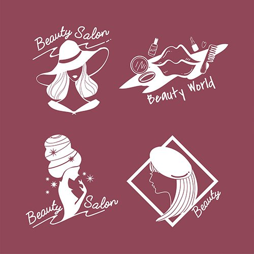 Set of womens beauty and style icons vector
