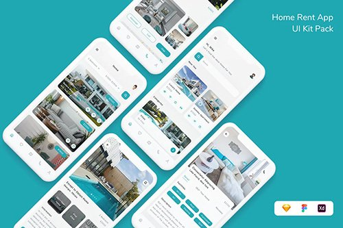 Home Rent App UI Kit Pack