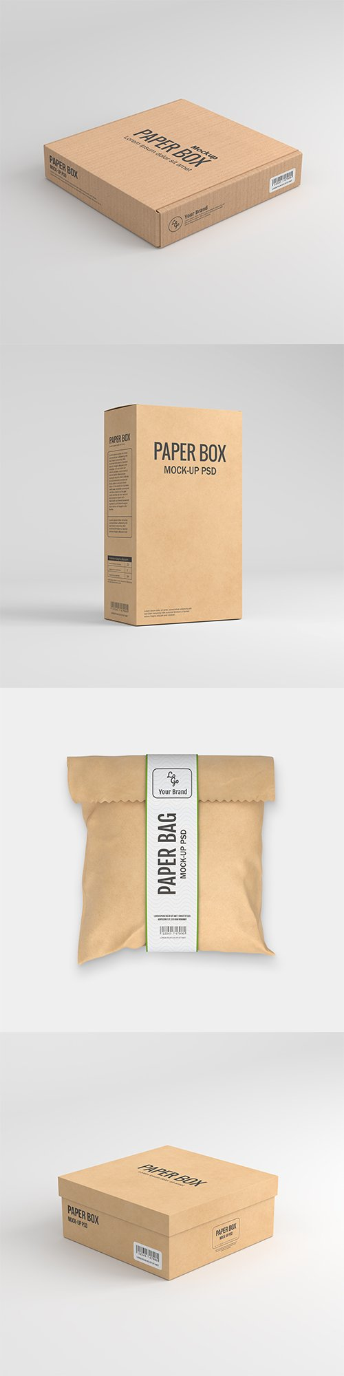 Paper Bag Packaging Mockup vol2