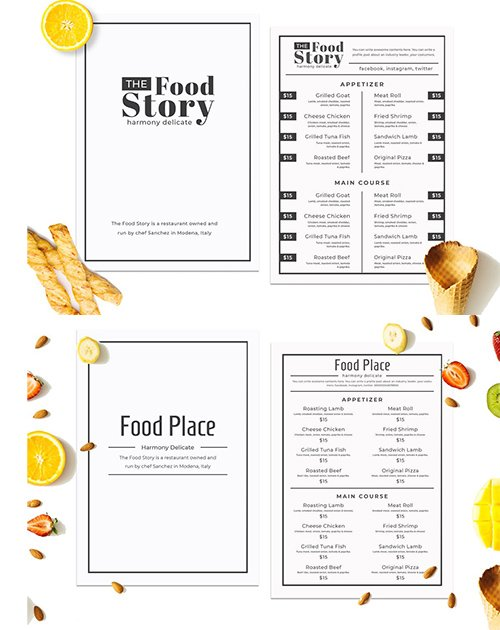Simple Food Menu PSD