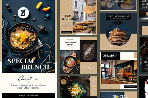 Brunch social media graphic templates
