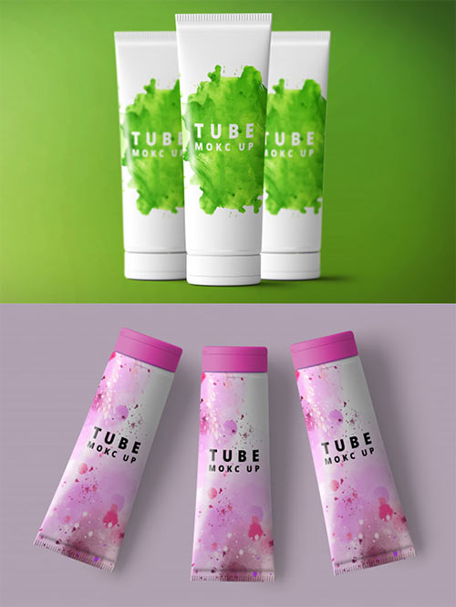 Cosmetic Tube PSD Mock up Set
