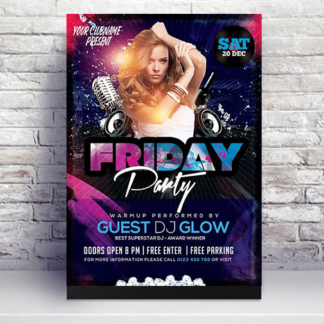 Night Club Party Flyer Design PSD