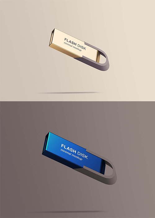 Flying Flash Disk PSD Mockup