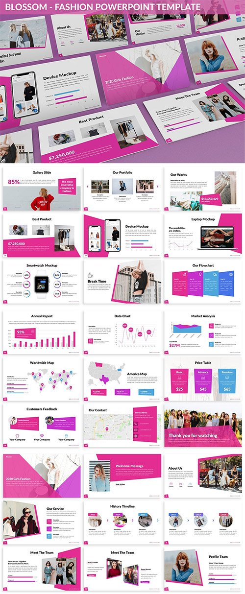 Blossom - Fashion Powerpoint Template